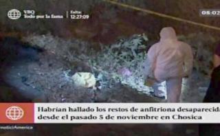 Chosica: confirman que cadáver es de anfitriona desaparecida