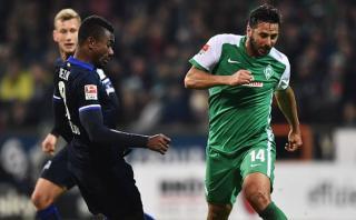 Con Pizarro: Werder Bremen derrotó 1-0 a Hertha en Bundesliga