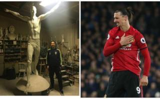 Ibrahimovic comparó su efigie con la Estatua de la Libertad
