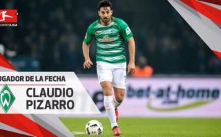 Pizarro obtuvo premio a mejor jugador de la fecha en Bundesliga