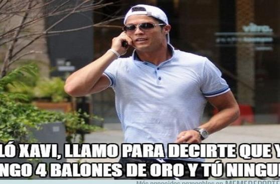 Cristiano Ronaldo: graciosos memes de su cuarto Balón de Oro