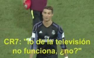 Cristiano Ronaldo se burló del videoarbitraje tras su gol