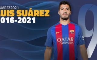 Barcelona: Luis Suárez renovó con el club catalán hasta 2021