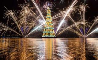 ¿Por qué este gigantesco árbol de Navidad divide a un país?