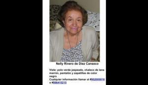 Anciana con Alzheimer está desaparecida en Moquegua