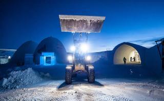 Presencia la increíble construcción de este hotel de hielo