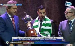 Atlético Nacional recibió el premio Fair Play Centenario