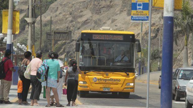 Metropolitano: servicio a la Costa Verde desde este jueves
