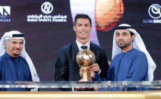 Cristiano Ronaldo y un nuevo premio: alzó el Globe Soccer