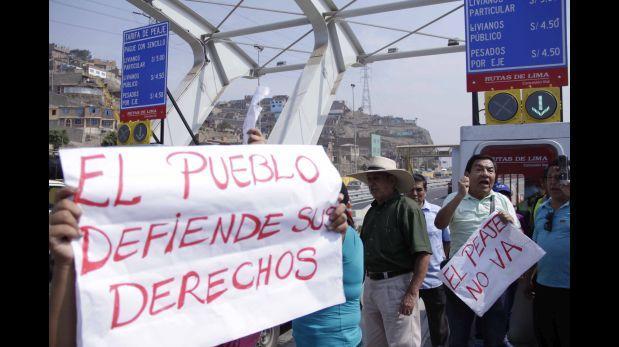Defensoría pedirá revisión de alza de peaje en Puente Piedra