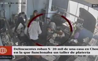 Chosica: banda usó máscaras de animales para robar en taller