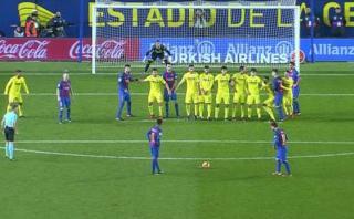 Lionel Messi: golazo de tiro libre al ángulo ante Villarreal