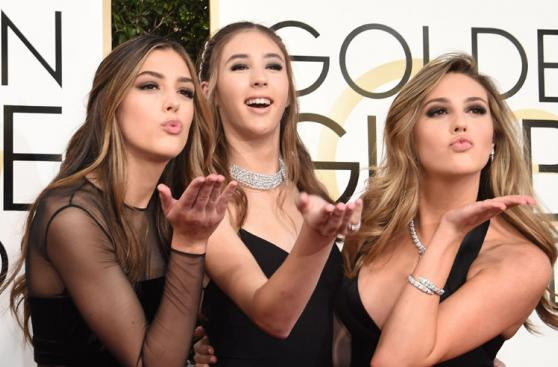 Hijas de Sylvester Stallone se lucieron en los Globos de Oro