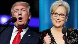 "Trump llamó ""lacaya de Hillary"" a Meryl Streep tras discurso"