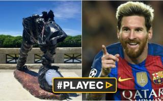 Argentina: estatua mutilada de Lionel Messi será restaurada