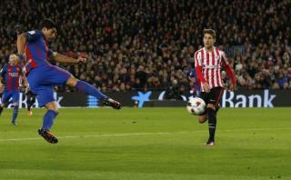 Barcelona: Luis Suárez anotó al Athletic con sensacional volea