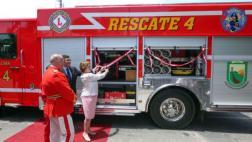 Bomberos de Lince recibieron donación de unidad de rescate