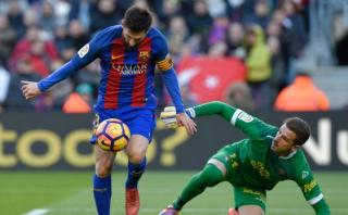 Lionel Messi falló increíble gol ante Las Palmas [VIDEO]