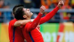 Chile se coronó campeón de la China Cup con este cabezazo