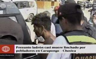 Chosica: vecinos capturan y golpean a ladrón de batería