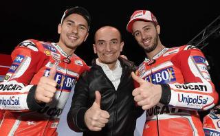 Este es el look que estrenó Jorge Lorenzo en Ducati