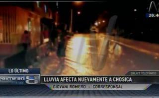 Chosica: intensa lluvia causa alarma por posible huaico