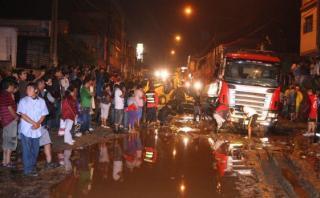 Chosica: 25 viviendas afectadas tras 6 horas de lluvia
