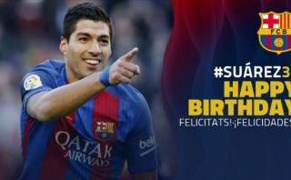 Luis Suárez de cumpleaños: sus goles en prácticas del Barcelona