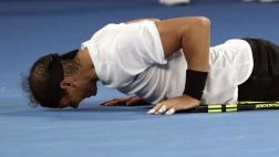 El emocionante festejo de Rafael Nadal tras vencer a Dimitrov