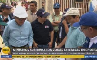 Chosica: roban parte de mallas que sirven para detener huaico