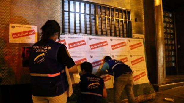 Municipalidad de Lima cerró prostíbulo en Av. Tacna