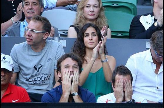 Así vivieron la final las parejas de Federer y Nadal [FOTOS]
