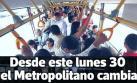 Metropolitano: los cambios que rigen desde hoy