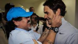 Facebook: Maradona se rinde ante los triunfos de Federer