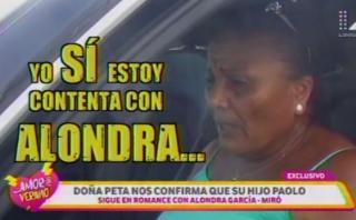 """Doña Peta: """"Todo está bien entre Alondra y Paolo"""" [VIDEO]"""