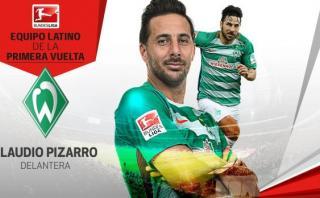 Claudio Pizarro incluido en once ideal latino de la Bundesliga