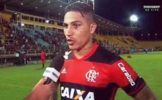 """Guerrero dice estar """"feliz"""" por el juego que muestra Flamengo"""