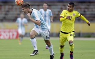 Argentina derrotó 2-1 a Colombia por el Sudamericano Sub 20
