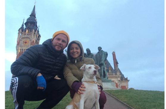 Con Lizzy hasta en otro continente