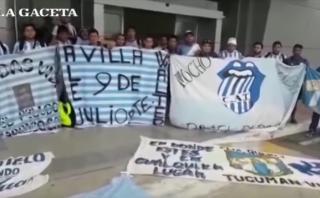 Grupo de hinchas de Atlético Tucumán varados en Tacna [VIDEO]