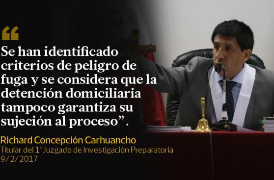 Las frases del juez Concepción Carhuancho sobre Toledo