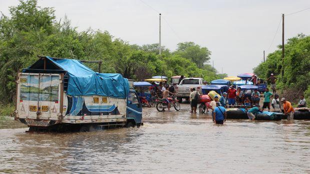 Lluvias en Piura dejan 7 tramos de carreteras intransitables