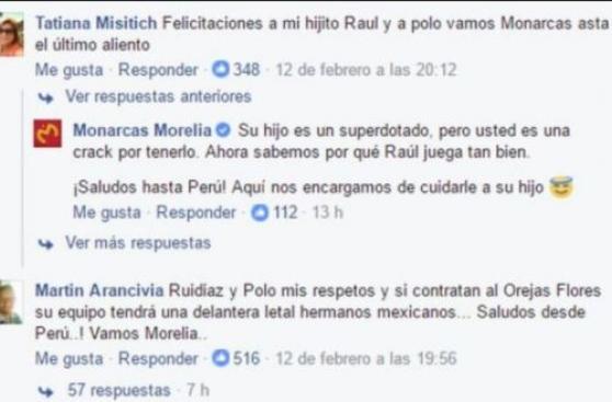 Felicitaciones de la madre de Ruidíaz son virales en Facebook