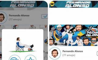 Fernando Alonso lanzó sus emojis y son un éxito mundial