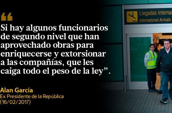 Las frases que dejó Alan García tras volver de España
