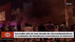 Incendio afectó tienda de electrodomésticos en SMP