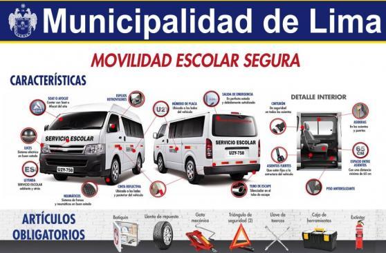 Lima multará con S/4,050 a movilidades escolares informales