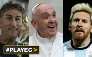 """Bauza: """"Sueño llevarle la Copa del Mundo al Papa, con Messi"""""""