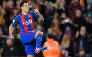 Luis Suárez: grandiosa definición de volea frente al Gijón