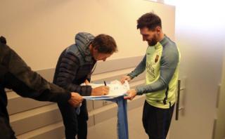 Lionel Messi: ¿a quién le pidió un autógrafo?